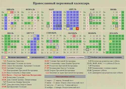 церковный православный календарь на февраль 2018 года